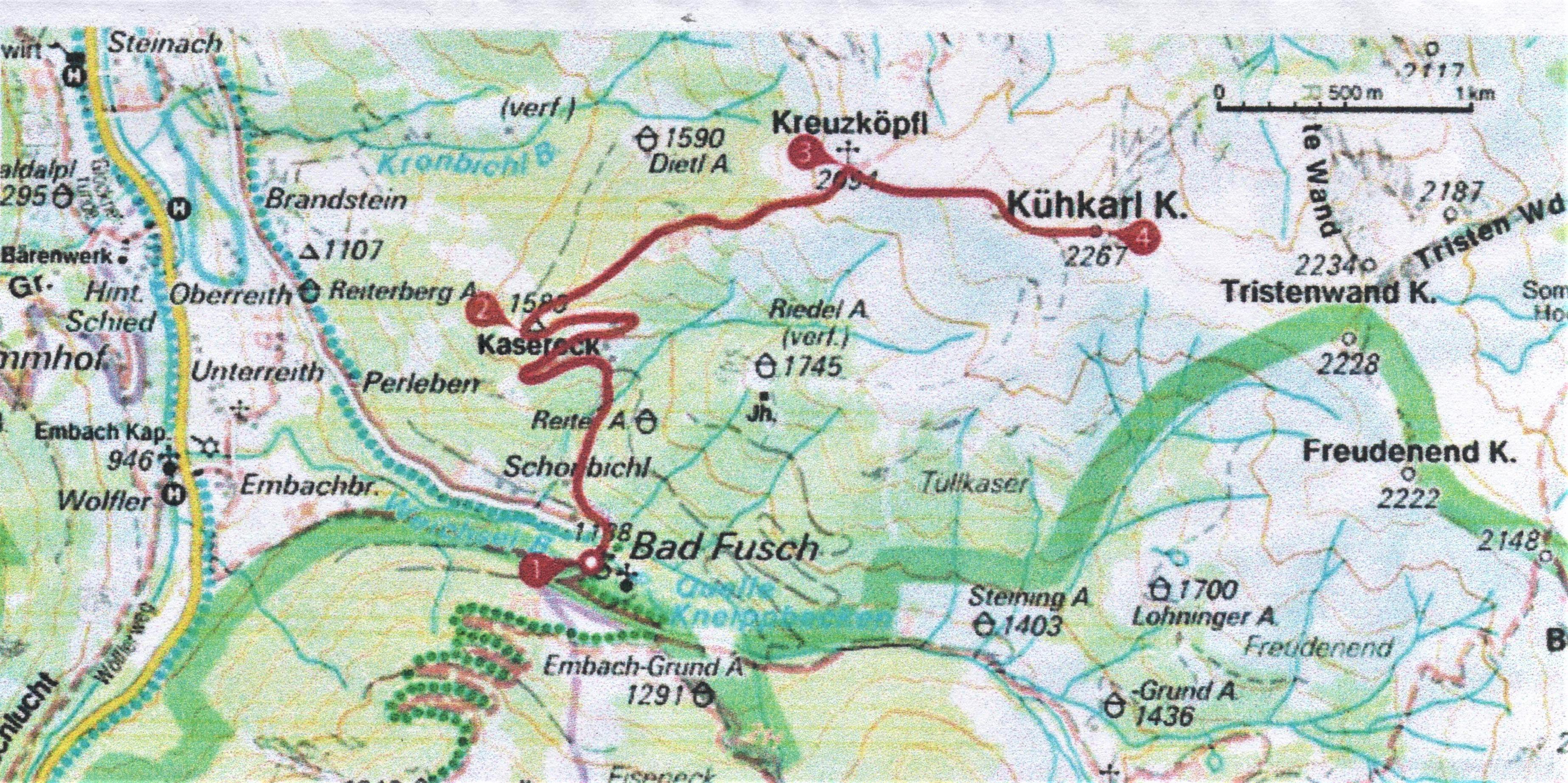 Einladung zur Naturfreunde Gebietswanderung aufs Kreuzköpfl 2094 m und auf den Kühkarlkopf 2267 m