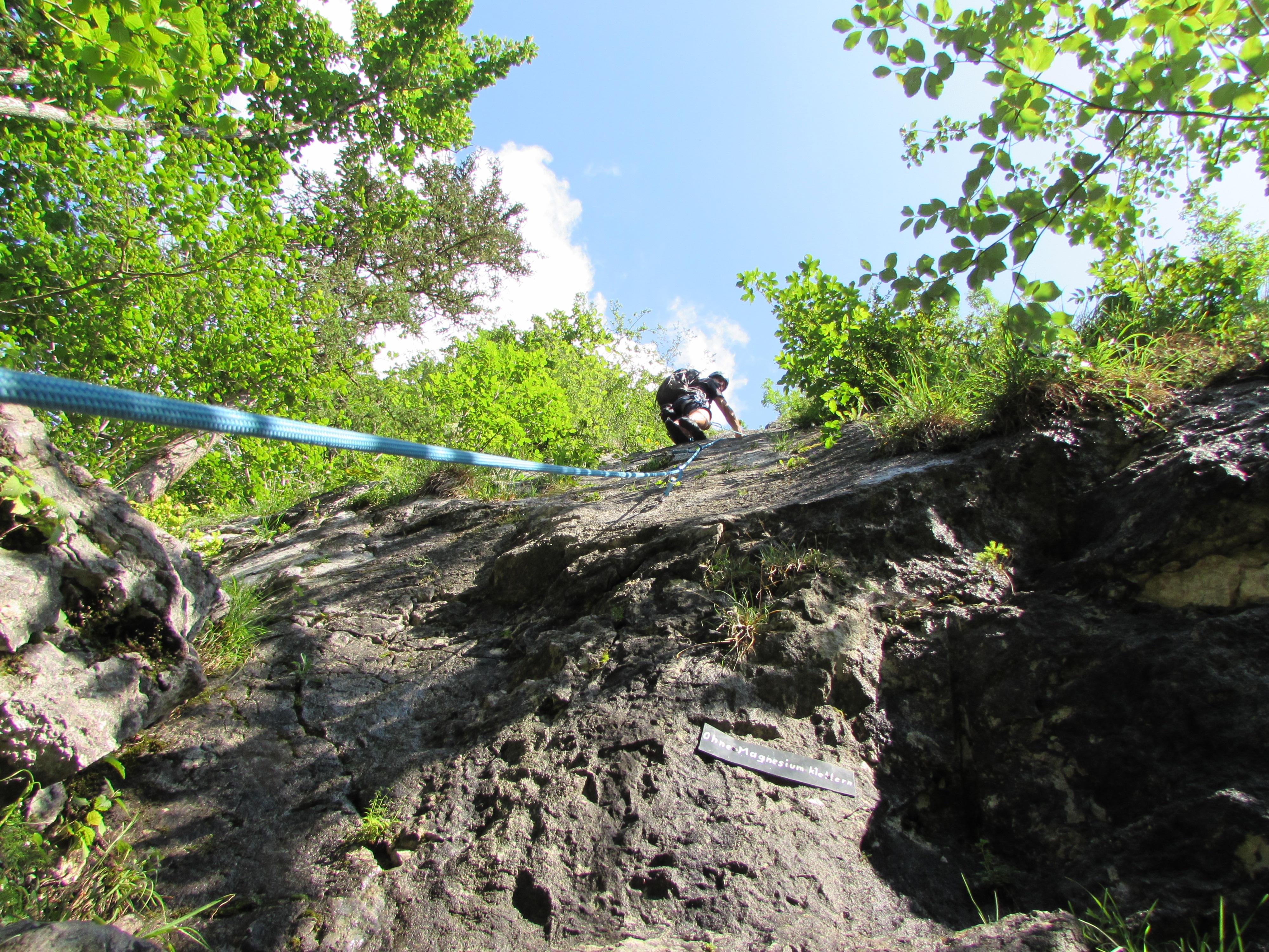 Klettern am Plombergstein 805m