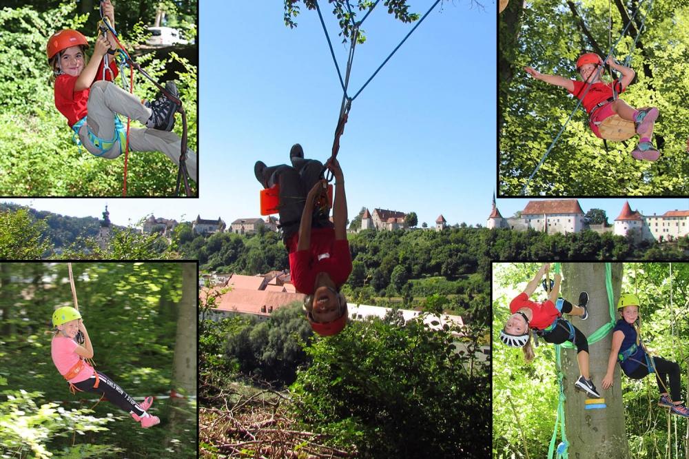 Ferienprogramm Hochseilgarten