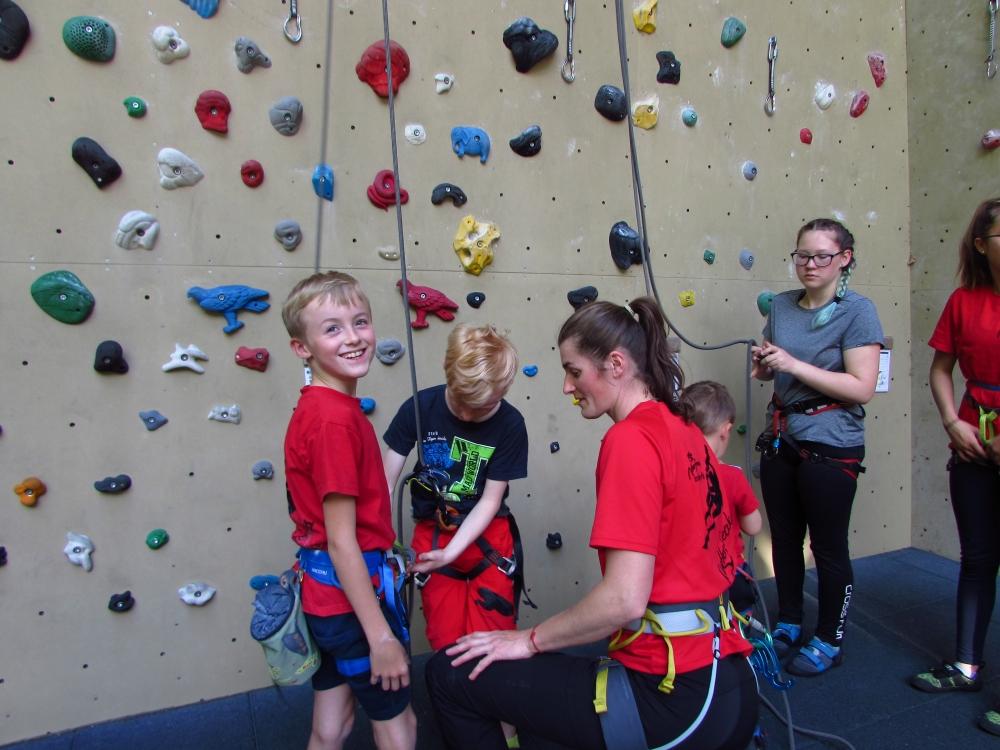 Klettertraining und Bouldern mit Kindern