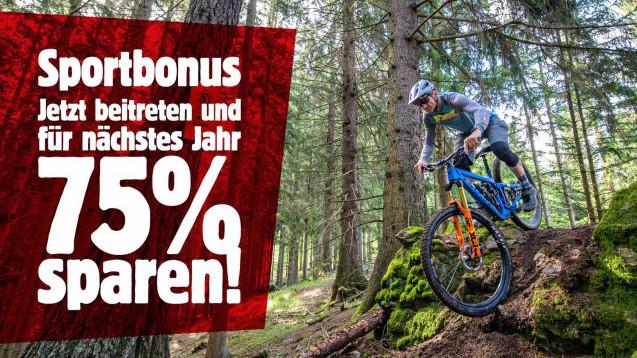 75% Sportbonus für Neu-Mitglieder