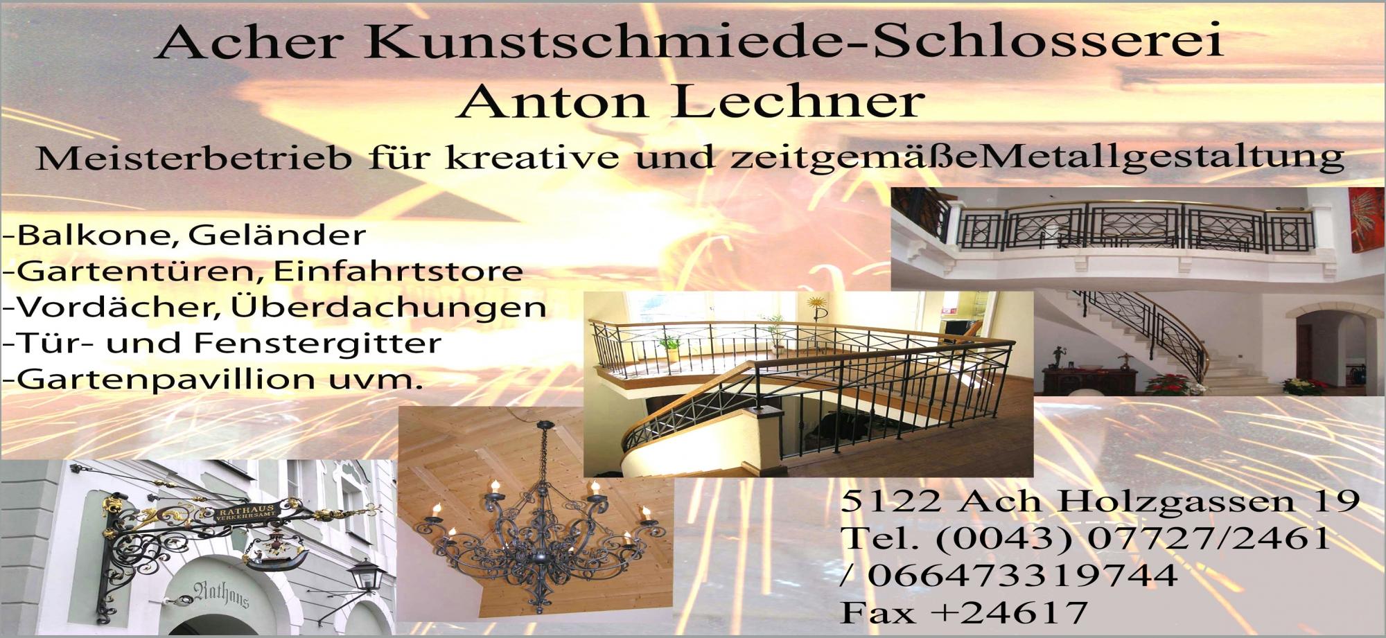 Acher Kunstschmiede - Schlosserei Anton Lechner