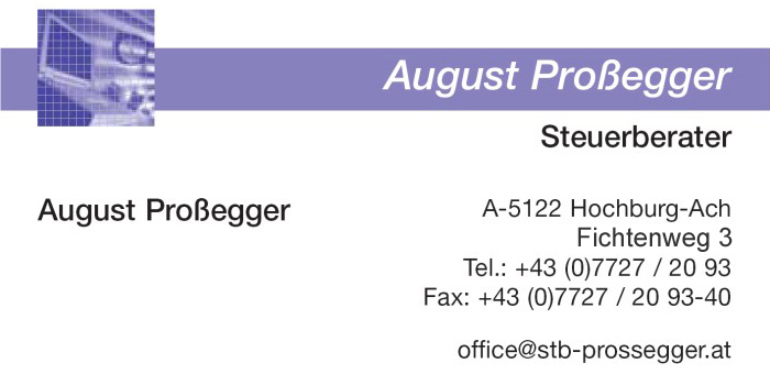 Steuerberater August Prossegger