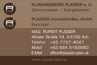 Planungsbüro Plasser Mag.arch. Rupert Plasser